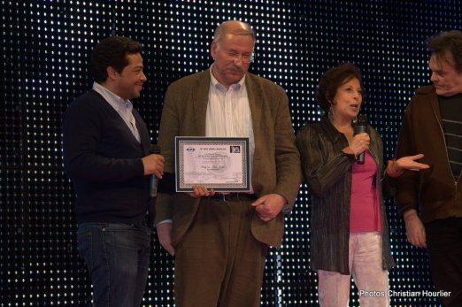 """Remise du Prix """"Coup de Coeur"""" de l'Assocation de la Presse Etrangère à Alain Perolaz, producteur du film gagnant """"Only in New-York"""""""