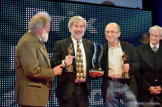 Alain Fillon, Jean-Marie Lavalou & Alain Masseron (avec leurs Oscars)