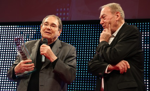 Robert Hossein et Yves Boisset ©Denis Guignebourg