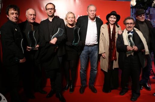 Eric Serra, Rémy Julienne, Laurent Witz, Agnès B., Yves Boisset, Anna Karina, Férid Boughedir et Tchéky Karyo ©Denis Guignebourg