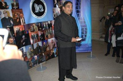 Kamal Haasan au photocall, acteur, scénariste, parolier et réalisateur indien de Kollywood, lauréat du Prix Henri Langlois Cinémas du Monde d'ici et d'ailleurs 2016